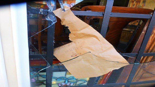 St. Louis Police are investigating another act of vandalism at a south St. Louis store which the owner believes could be a threat for showing support for police. (Credit: KMOV)