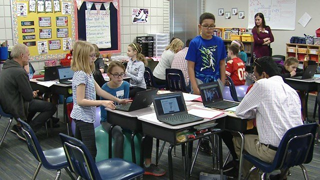 Fifth graders at Ellisville Elementary in west St. Louis County recently took part in a Career Day and got to meet and talk with professionals from their community. (Credit: KMOV)