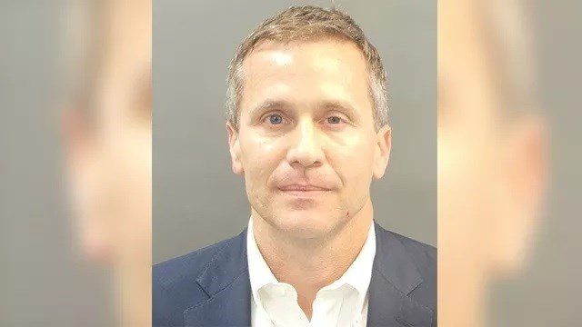 Missouri Governor Eric Greitens seen in a mugshot on February 22, 2018. (Credit: St. Louis Police Department)