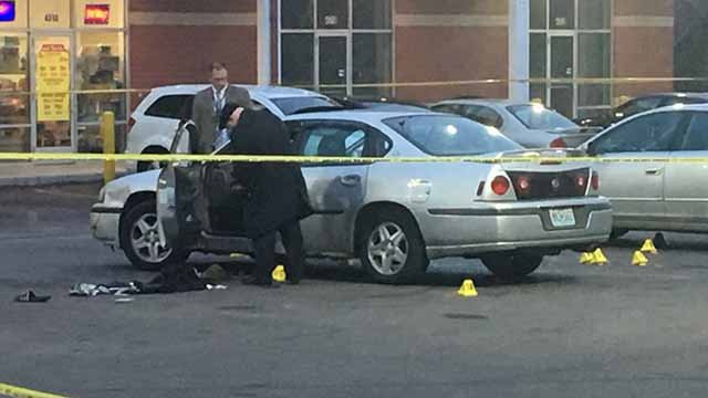 A 9-yea-old girl was injured by broken glass when someone shot a man who was inside the same car as her in North City Tuesday. Credit: KMOV