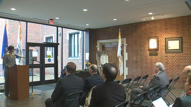 The Illinois Department of Veterans' Affairs hosted the Desert Storm Remembrance Ceremony at Lindenwood University-Belleville Wednesday. (Credit: KMOV)