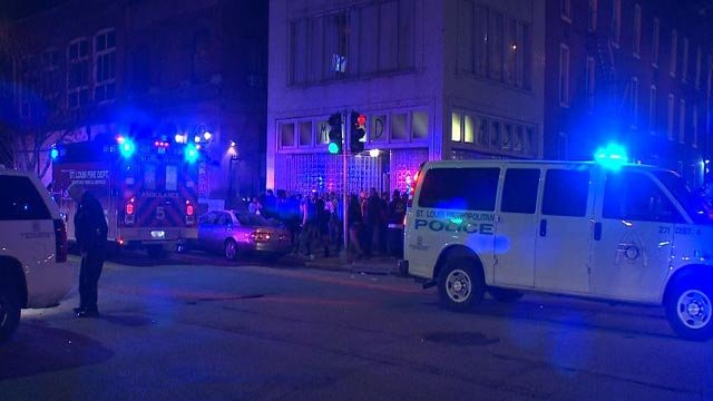 Three people were shot outside Mood Night Club early Friday morning (Credit: KMOV)