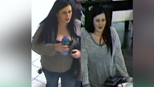 Images of a suspected credit card thief who went on a shopping spree at the Chesterfield Mall. (Credit:KMOV)