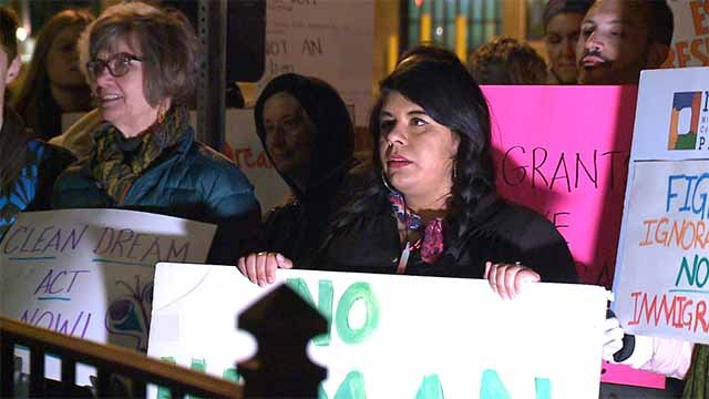 Dreamers rallied outside of Se. McCaskill's office in University City on Friday. Credit: KMOV