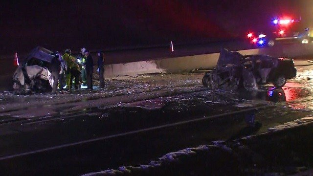 A crash on I-270 shut down the eastbound lanes of the interstate Saturday morning. (Credit: KMOV)