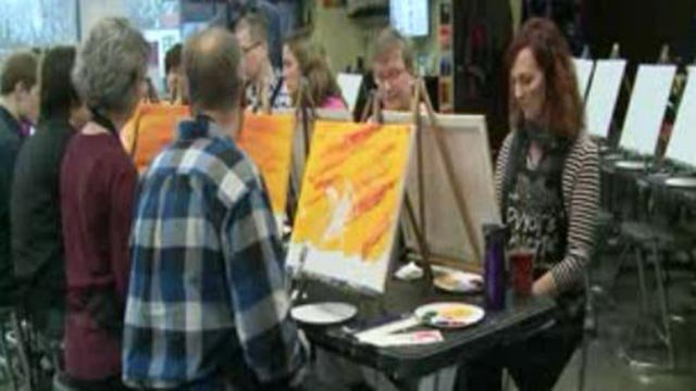 People painting Pinot's Palette (Credit: KMOV)