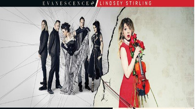 Grammy Award-winning rock band Evanescence and violinist Lindsey Stirling announced their co-headlining summer tour stop in St. Louis! (Credit: Live Nation)