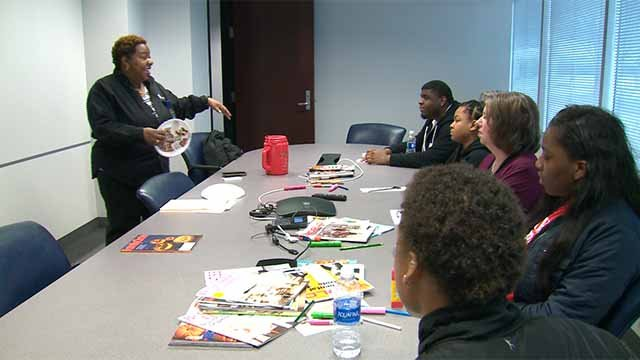 Some local students are getting an inside look at the business world at AT&T's offices in Des Peres. Credit: KMOV