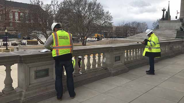 Visitors to the Missouri Capitol will have to weave their way through a construction zone as the 100-year-old building undergoes of major renovation. Credit: KMOV