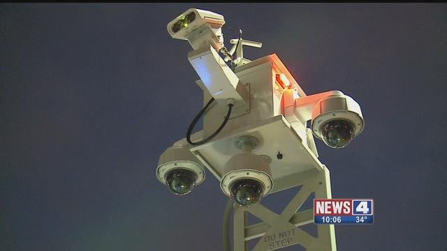 SLMPD is trying out a new mobile crime fighting surveillance tool in areas where there aren't any street cameras. Credit: KMOV