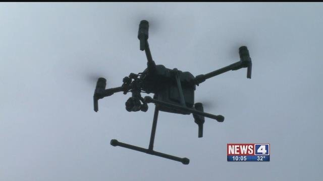 Drone in the air. Credit: KMOV