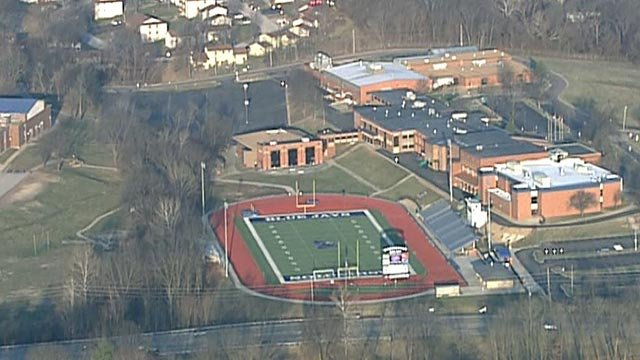 Outside of Washington, Missouri High School (Credit: KMOV)