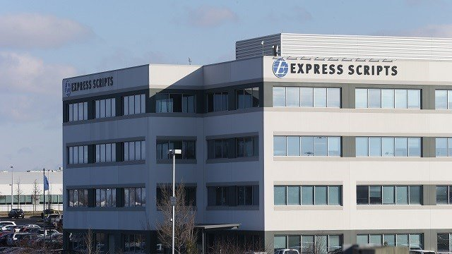 Express Scripts the largest pharmacy benefit management organization in the United States, is pictured at its headquarters in St. Louis on March 8, 2018.  Photo by Bill Greenblatt/UPI
