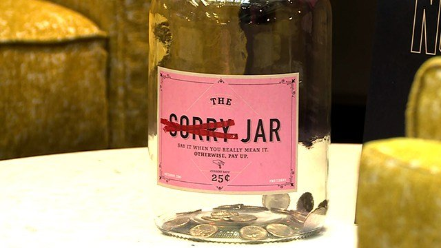 """The idea of a jar comes from the idea of a swear jar. When you say something, bad wrong, something you shouldn't say, then you have to pay for it."" (Credit: KMOV)"