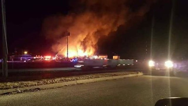 A three alarm fire broke out at Cuba motel (Credit:News 4 Viewer)