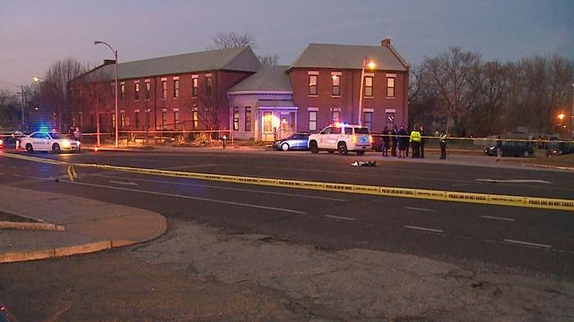 A man died after being the victim of a hit-and-run in the area of Sullivan and W. Florissant Thursday (Credit: KMOV)