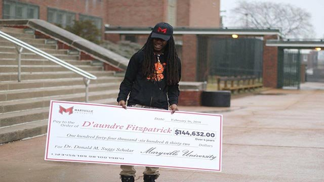 D'aundre Fitzpatrick won a full-ride scholarship to Maryville University (Credit: St. Louis Public Schools)