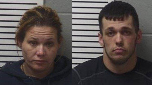 Daniel Jones (right) is charged with a felony First Degree Robbery and First Degree Burglary. Misty Agler is charged with a felony Accessory First Degree Burglary. (Credit: Lincoln County Sheriff's Office)