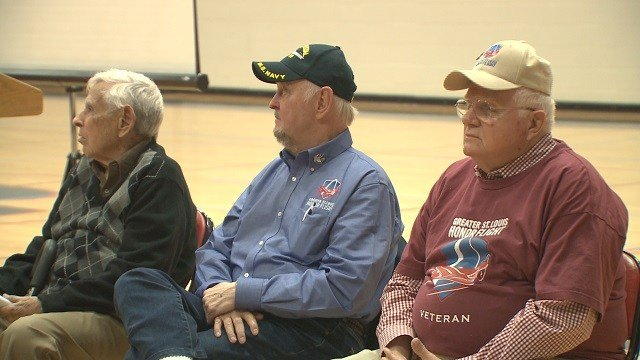 Veterans met with students at Parkway South High School to share stories of their service. (Credit: KMOV)