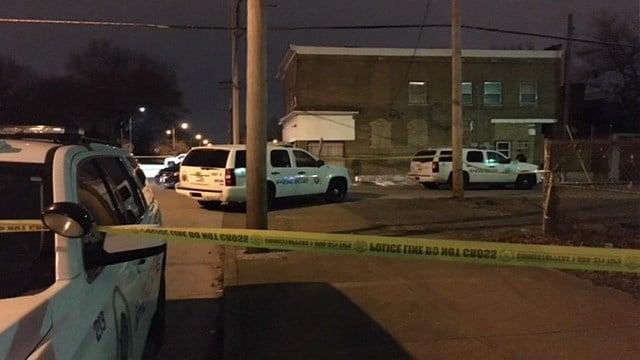 Investigators process the scene of a double homicide in North St. Louis (Credit: KMOV)