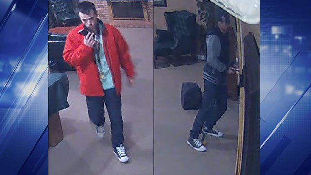 The suspect stole a laptop computer and other items at the Waterford Manor Apartments in Valley Park last Saturday, March 10. (Credit: St. Louis County PD)