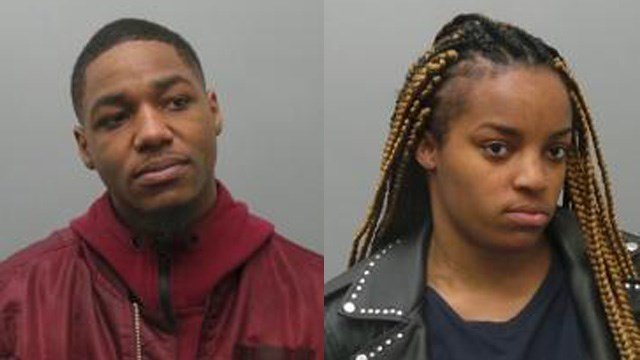 Christopher Mitchell, 23 (left) and Alexis Jones, 21(right), have been charged with Attempted Robbery Second Degree. (Credit Brentwood PD)