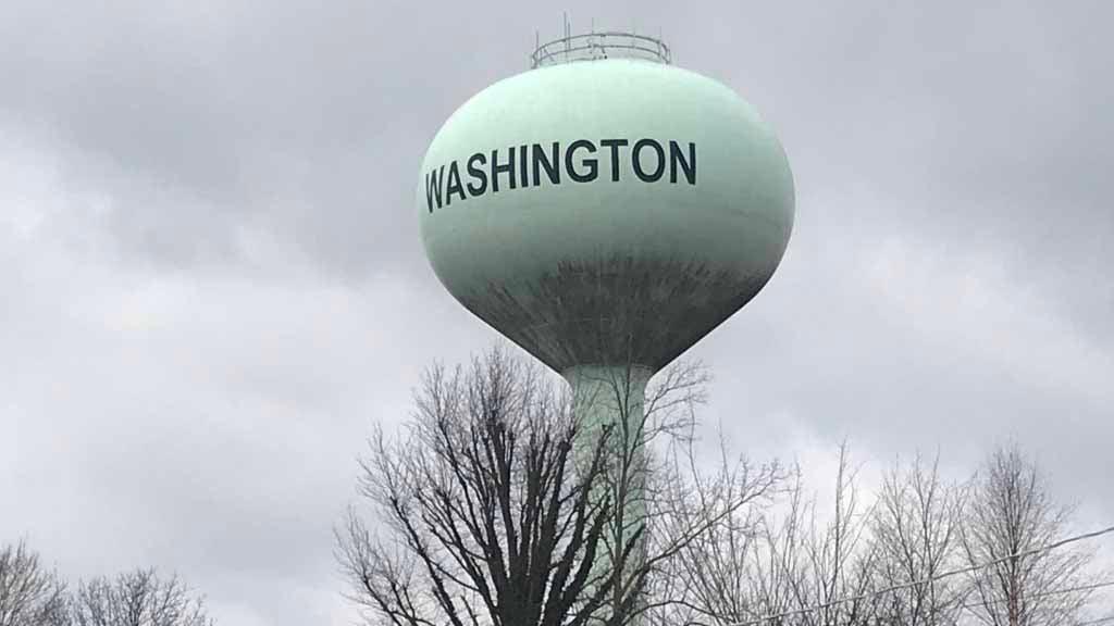 The water tower in Washington, Mo. Credit: KMOV