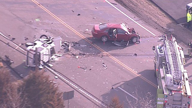 A fatal multi-vehicle crash has closed Highway 61/67 near Imperial. (Credit: KMOV)