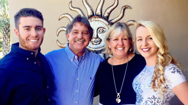 Andrew Coffey (left) with his family COFFEY FAMILY