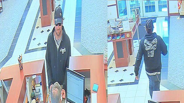 Police released surveillance images of a suspected bank robber in Kirkwood (Credit: KMOV)