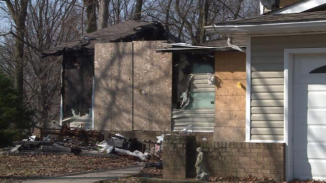 The burned home on Dogwood Lane in Glen Carbon one year later (Credit: KMOV)