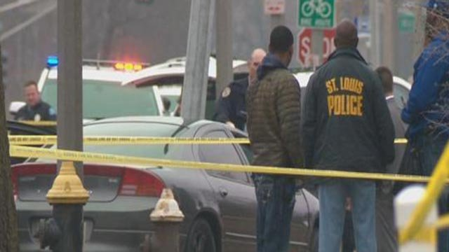 A man was shot to death in the 1200 block of Goodfellow Monday (Credit: KMOV)