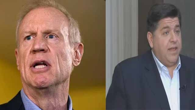 Rauner and Pritzker. Credit: AP and KMOV