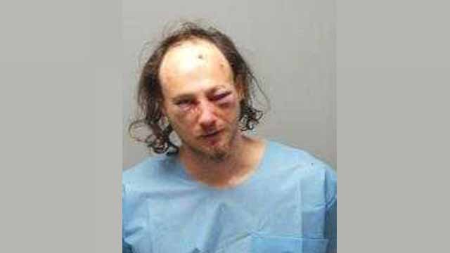 Aaron Summers is charged with assault on a law enforcement officer, resisting arrest and property damage. Credit: St. Charles Police