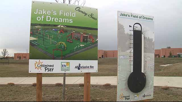 """Jake's Playground"" will be built at Heartland Park in Wentzville in honor of Jake Vollmer. He battled muscular dystrophy and passed away in 2012 at the age of 19. Credit: KMOV"