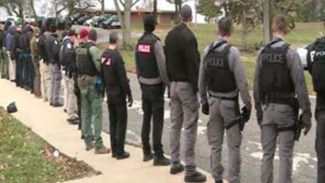 Officers gather in St. Charles for a week-long active shooter training (Credit: KMOV)