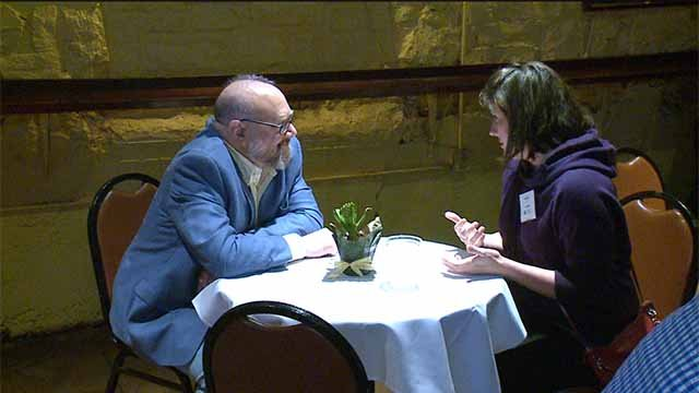 "The University City School District held a ""speed hiring"" event at Blueberry Hill on Wednesday. Credit: KMOV"
