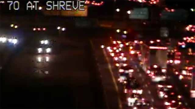 Accident shuts down WB I-70 at Shreve