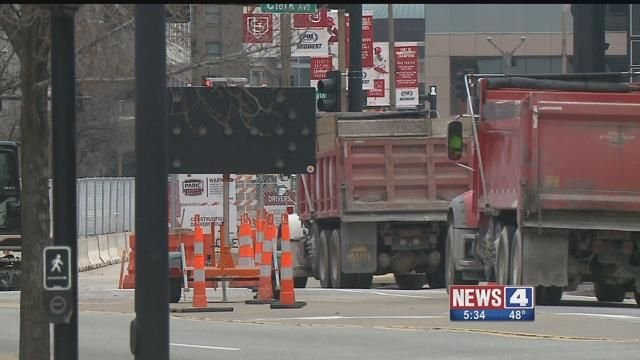 Fans attending Cardinals' games in 2018 can expect to encounter construction near the ballpark. Credit: KMOV