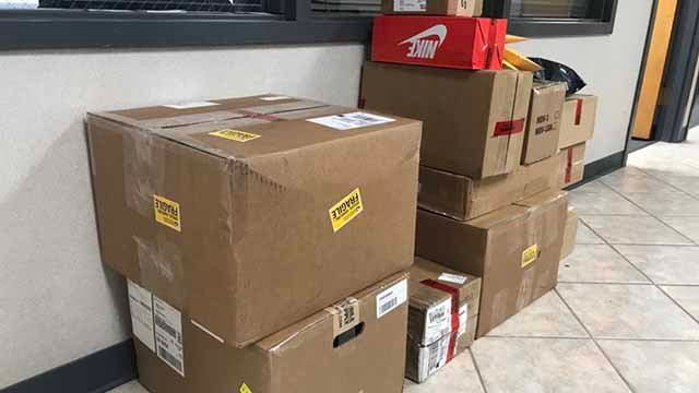 Police say many of the items purchased with a stolen credit card were shipped in and out of the US.