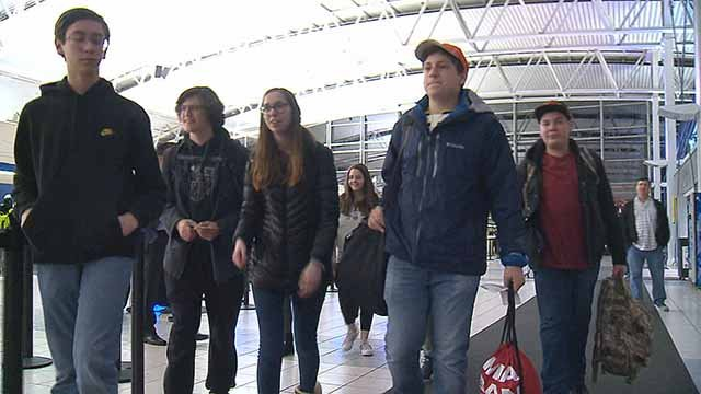 A group of St. Louis students headed to Washington, D.C. Thursday night to join the hundreds of thousands of others expected at the March for Our Lives rally this weekend. Credit: KMOV