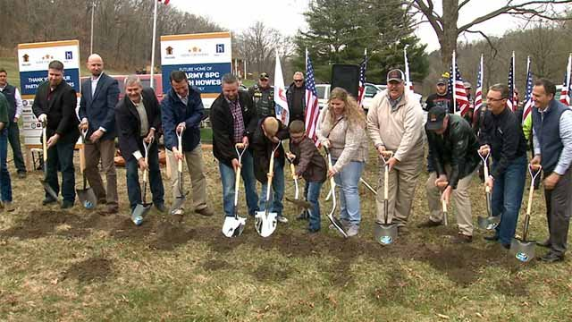 Thursday, officials broke ground on a custom home for U.S. Army Specialist Heath Howes. Credit: KMOV
