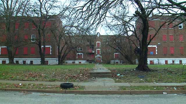 A nearly $4 million project is underway to rehab vacant apartment buildings at Cabanne and Hamilton. Credit: KMOV