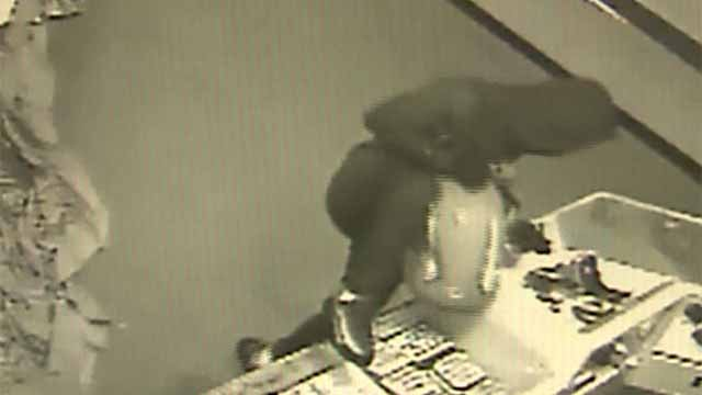 Fairview Heights Police said three people first broke into St. Clair Square Mall early Friday morning and then into Prime Jewelers. Credit: Fairview Heights PD