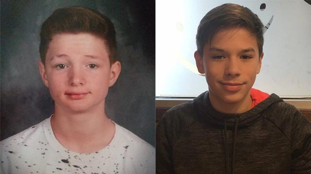 Jack Burgio, 14, & James Warren, 13, were last seen Monday in Farmington (Credit: Farmington Police)