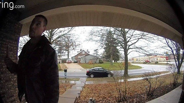 This burglar in South St. Louis County was caught on camera March 27. (Credit: St. Louis County police)