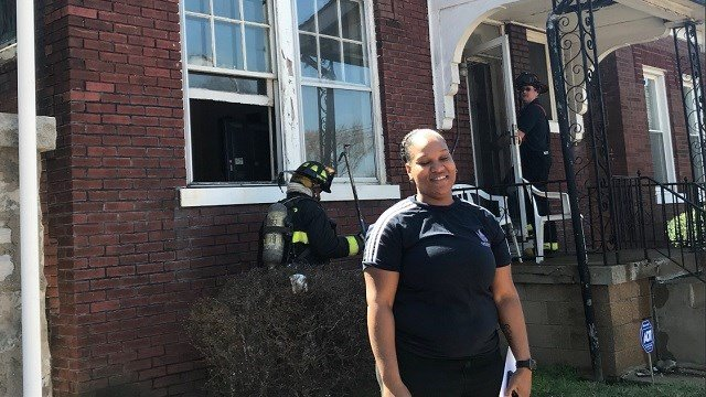 Cathryn Steps rescued her neighbor from a house fire in North St. Louis. (Credit: St. Louis Fire Department)