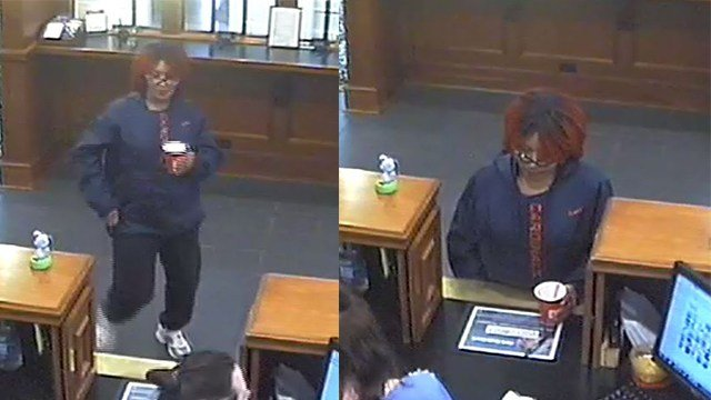 St. Charles police are looking for this woman who robbed a bank Saturday. (Credit: St. Charles police)
