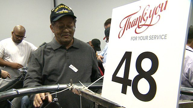 Veterans were offered business attire to help prepare for the next chapter in life Saturday (Credit: KMOV)