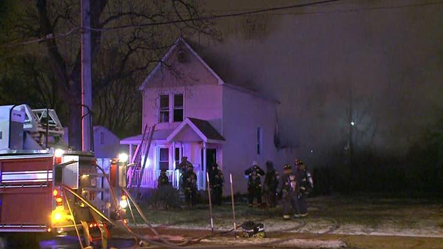 St. Louis City Firefighters on the scene of a fire on Southwest Ave. near McCausland (Credit: KMOV)